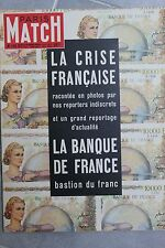 PARIS MATCH N°156 banque de france la crise micheline presle