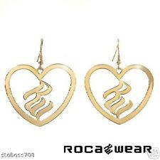 ROCA WEAR 14K GOLD PLATED HEART EARRINGS COMPARE:$99.00