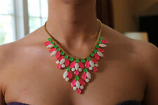 AMAZING KATE SPADE MARQUEE STATEMENT NECKLACE NWT CLASSIC COLOR COMBO!!