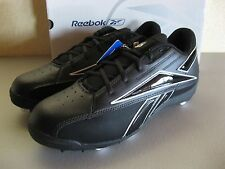Reebok Mens NFL Thorpe Low MR7 Football Cleats 13.5 Black Rubber Grass or Turf