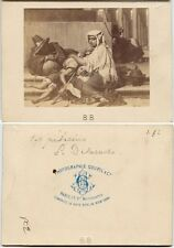 WOMAN AND CHILD BY PHOTOGRAPHIE GOUPIL + CIE PARIS IDED ON BACK CDV