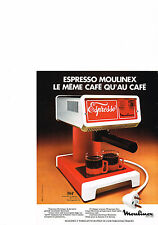 PUBLICITE  1976   MOULINEX   cafetière  ESPRESSO
