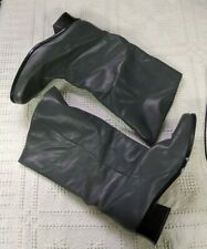 """Women's Size 10W Markon Womens SHELLY Leather Pull-On Mid-Calf 2"""" Heel Boots"""