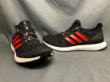 Adidas Men's UltraBOOST Running Sneakers Woven Black Red White Size 9.5 NEW!