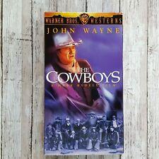 John Wayne The Cowboys VHS Tape Movie Film Western Ranch Horse Cattle Drive 1997