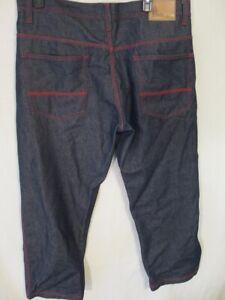 RISK 100% Cotton 40 x 30 Dark Rinse Red Stitch Blue Jeans