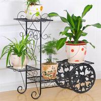 Indoor Outdoor Metal Flower Pot Rack Plant Stand Holder Heavy Duty Load