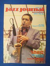 JAZZ JOURNAL MAGAZINE MARCH 1982 FRANKIE CAPP BOB HAVENS DUKE ELLINGTON RCA
