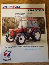 Zetor Tractor 4320 / 4340 Specification sheet