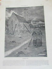 LOUIS BAILLY LES BEQUILLES EGLISE   SC 2070 ILLUSTRATION ANCIENNE