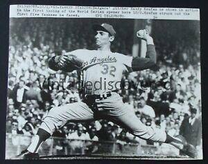 2 - Sandy Koufax Los Angeles Dodgers Vintage Press Photos 1963 World Series