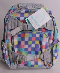 NWT Pottery Barn Kids Mackenzie small backpack bright pixel