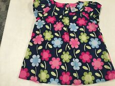 GYMBOREE  SMART AND SWEET  FLORAL COTTON SWING TOP SHIRT  GIRLS  SZ   6