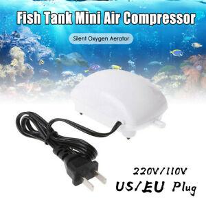 Aquarium Air Pump Fish Tank Increasing Oxygen Pump US Plug