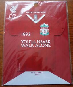 Official Liverpool FC Metal 3D Shirt Sign (You'll Never Walk Alone) - FREE POST!