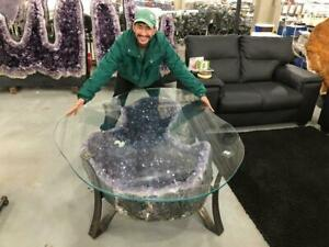 A Must See * Biggest 362 Kgs / 800 Lbs * AMETHYST TABLE * Top Quality *