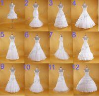 New White Hoop Wedding Petticoat Bridal Slip Crinoline  Hoop Skirt  Size XS - XL