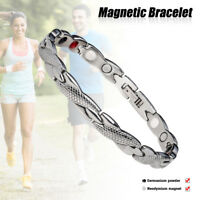 Ladies Magnetic Healing Bracelet Silver Gold Copper Bangle Arthritis Pain Relief