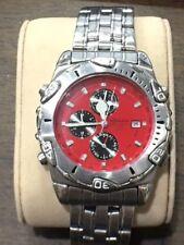 Rodania Chronograph/alarm Watch 100m red dial