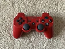 Genuine Sony PS3 DualShock 3 Sixaxis Red Wireless Controller Authentic OEM