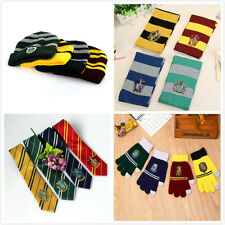Harry Potter Costumes Scarves Hat Gloves Tie Gryffindor Slytherin Cosplay Child