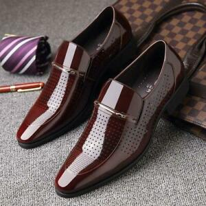 Men's Business  Pointed Toe Wedding Leather Dress Shoes Formal Casual Oxfords
