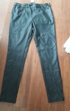 NEXT PU LEATHER LOOK LEGGINS TROUSERS SIZE 10 LONG NEW