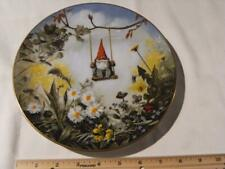 Rien Poortvliet Collector Plate Gnome Four Seasons Little Swinger. Spring.