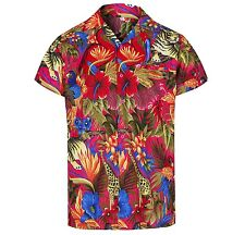MENS HAWAIIAN SHIRT JUNGLE THEMED PARTY HOLIDAY BEACH FANCY DRESS STAG DO