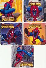 5 x Square Stickers ~ Spiderman Web Action Super Hero Spider Man Marvel Web ~