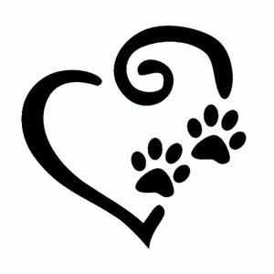 Paw Prints Heart Stencil - A4/A5/A6 -  - reusable