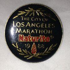 The City Of Los Angeles Marathon 1988 Pin Naturite Pinback Lapel