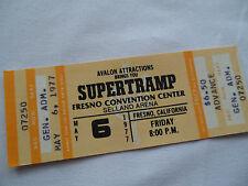 Supertramp Original 1977_Unused_Concert Ticket - Even Quietest Moment Tour