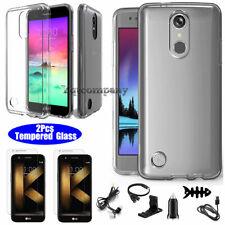 For Lg K20 Plus /K20 V/Grace/ Lv5/ K10 2017 Clear Hybrid Rubber Phone Case Cover