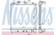 NISSENS Radiador, refrigeración del motor HONDA CIVIC CRX 63312