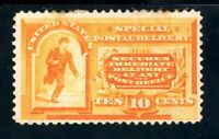 USAstamps Unused VF US 1893 Special Delivery Scott E3 OG MHR