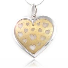 Herz Anhänger Vergoldung 24 karat Gold  aus Silber 925