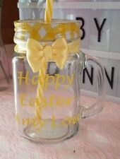 Personalised Mason Jar Birthday 18 21 30 40 50 60 Valentines Mothers Day Easter
