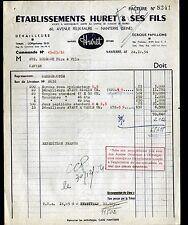 """NANTERRE (92) ACCESSOIRES VELOS MOTOS CYCLOMOTEURS """"HURET & Fils"""" en 1954"""