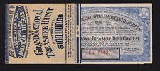 US 1936 Grand National Treasure Hunt Contest Tickets SCARCE!