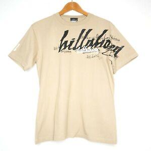 Billabong Vintage Y2K 00s Mens Biege T-Shirt Size Small Sleeve Hit