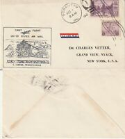 US 1934 FIRST FLIGHT FLOWN COVER SCRANTON PA TO NEW YORK NY