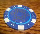 STAR OF DAVID Epoxy design Poker Chip,Golf Ball Marker,Card Guard Dark Blue