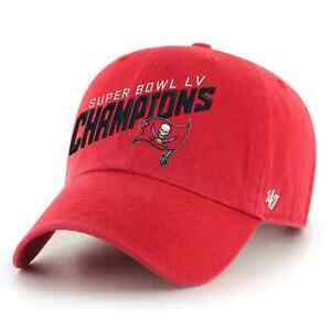 '47 Red Tampa Bay Buccaneers Super Bowl LV Champions Clean-Up Adjustable Hat