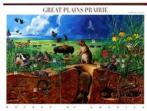 Great Plains Prairie Complete Sheet of 10 $.34 S/A MNH Stamps Scott's 3506