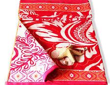 Red Orange Velour Giant Beach Towel - 100%Egyptian Cotton  Bath Sheet Holidays