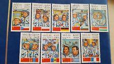LAOS STAMPS 1983 KOSMONAUTS  MINR 638/646
