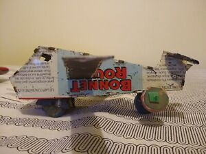 African Folk Art Toy Recycled Tin Can Airplane