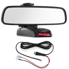 Mirror Mount Bracket + Direct Wire Power Cord for Beltronics RX65 STi Magnum