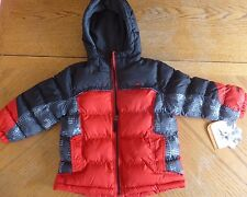 NEW red & black Winter Coat size 4 Boys Jacket $70 MSRP NWT Puffer mid-weight